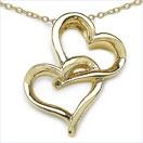 Heart Shape .925 Sterling Silver Gold Plated Pendant