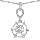 0.15CTW Genuine White Diamond .925 Sterling Silver Pendant
