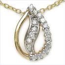 0.15CTW 18K Yellow Gold Diamond Pendant