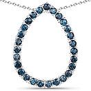 3.78CTW Genuine London Blue Topaz .925 Sterling Silver Pendant