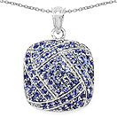 2.73CTW Genuine Tanzanite .925 Sterling Silver Cushion Shape Pendant