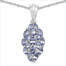 1.29CTW Genuine Tanzanite .925 Sterling Silver Pendant