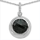 8.39CTW Genuine Black Onyx .925 Sterling Silver Pendant