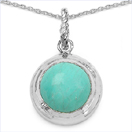 8.05CTW Genuine Turquoise .925 Sterling Silver Pendant