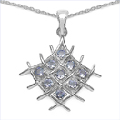 0.90CTW Genuine Tanzanite .925 Sterling Silver Pendant