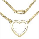 Heart Shape .925 Sterling Silver Designer Gold Plated Pendant