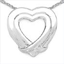 Heart Shape .925 Sterling Silver Designer Pendant