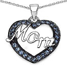 Mother's Day Special: 0.50CTW Genuine Tanzanite .925 Sterling Silver Heart Pendant