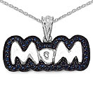 Mother's Day Special: 1.02CTW Genuine Blue Sapphire .925 Sterling Silver Pendant