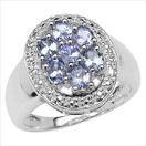 1.19CTW Genuine Tanzanite .925 Sterling Silver Ring