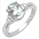 1.75CTW Genuine Aquamarine .925 Sterling Silver Ring