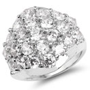 BridalMe 10.12CTW White Cubic Zirconia .925 Sterling Silver Cluster Ring
