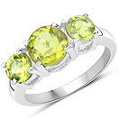 2.27CTW Peridot .925 Sterling Silver Ring