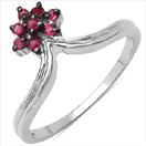 0.20CTW Genuine Ruby .925 Sterling Silver Ring