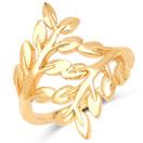 Gold Plated Brass Filigree Tree Shape Ring