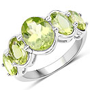 4.22CTW Peridot .925 Sterling Silver Ring