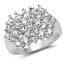 BridalMe 4.06CTW White Cubic Zirconia .925 Sterling Silver Cluster Ring