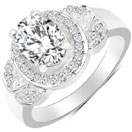 2.19CTW White Cubic Zirconia .925 Sterling Silver Ring