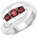 0.76CTW Garnet .925 Sterling Silver Ring