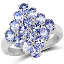 2.72CTW Tanzanite .925 Sterling Silver Ring