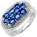 2.70CTW Genuine Kyanite .925 Sterling Silver Ring