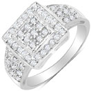 1.46CTW White Cubic Zirconia .925 Sterling Silver Ring