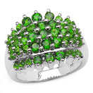 2.60CTW Genuine Chrome Diopside .925 Sterling Silver Ring