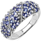 1.48CTW Genuine Tanzanite .925 Sterling Silver Cluster Ring