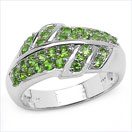 0.83CTW Genuine Chrome Diopside .925 Sterling Silver Ring
