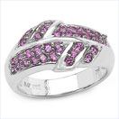 0.81CTW Genuine Rhodolite .925 Sterling Silver Ring