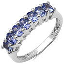 1.19CTW Genuine Tanzanite .925 Sterling Silver Ring