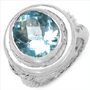 8.70CTW Genuine Blue Topaz .925 Sterling Silver Ring