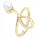 1.50CTW Genuine Pearl .925 Sterling Silver Gold Plating Ring