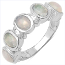 1.40CTW Genuine Ethiopian Opal .925 Sterling Silver Ring