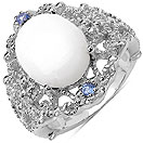 3.30CTW Genuine Opal & Tanzanite .925 Sterling Silver Ring