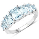 3.51CTW Genuine Blue Topaz .925 Sterling Silver Ring