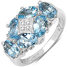 2.40CTW Genuine Aquamarine .925 Sterling Silver Ring