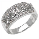 0.48CTW Genuine White Cubic Zircon .925 Sterling Silver Ring