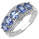 1.65CTW Genuine Tanzanite .925 Sterling Silver Ring