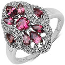 1.00CTW Genuine Pink Tourmaline .925 Sterling Silver Ring