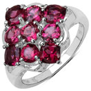 2.55CTW Genuine Rhodolite .925 Sterling Silver Ring