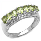 1.40CTW Genuine Peridot Oval .925 Sterling Silver Ring