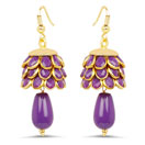 Purple Pacchi Gold Plated Brass Earrings