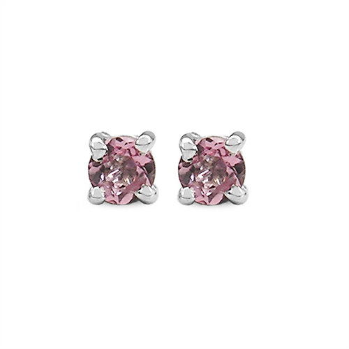 0.33CTW Genuine Pink Tourmaline .925 Sterling Silver Earrings