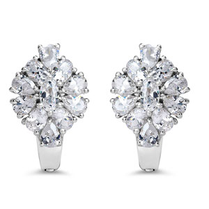 BridalMe 5.78CTW White Cubic Zirconia .925 Sterling Silver Earrings
