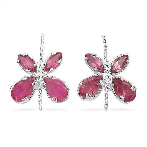1.20CTW Genuine Pink Tourmaline .925 Sterling Silver Earrings