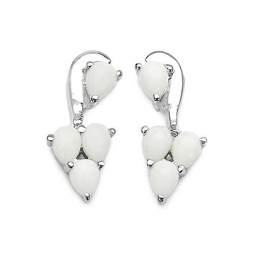 1.44CTW Genuine Opal .925 Sterling Silver Earrings