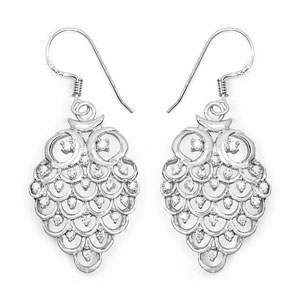 BridalMe 1.36CTW White Cubic Zirconia .925 Sterling Silver Dangle Earrings