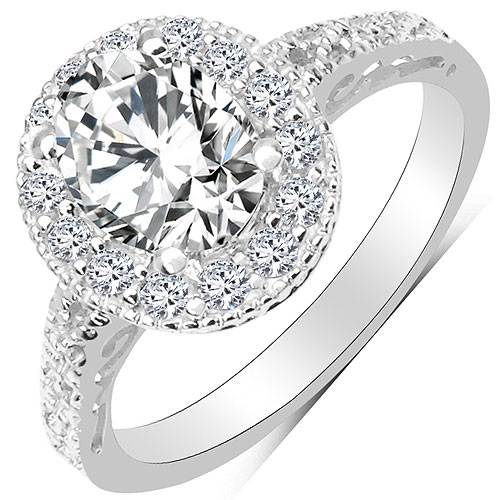 3.30CTW White Cubic Zirconia .925 Sterling Silver Ring