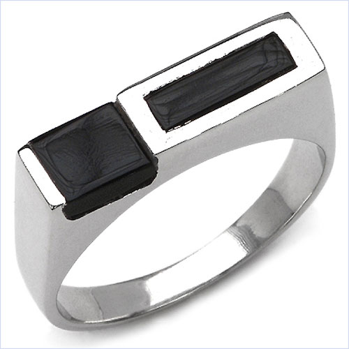 1.42CTW Black Onyx .925 Sterling Silver Ring